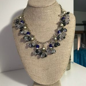 Jewelry - Blue and black beaded necklace